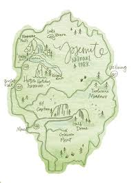 Sequoia National Park Map Yosemite National Park Map On Behance Travel U0026 Adventures U003c3