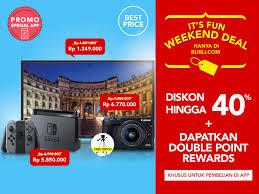 blibli weekend blibli com promo it s fun weekend deal diskon hingga 40