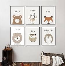 tableau chambre bébé décoration poster toile cerf trendisy décoration
