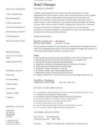 Retail Department Manager Resume Operations Manager Resume Template Resume Templates And