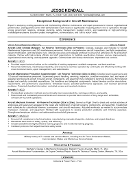 mechanic resume template resume templates for maintenance manager best of aircraft mechanic