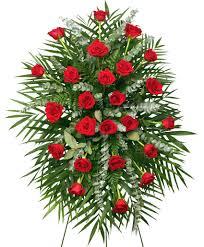bellevue florist roses standing spray of funeral flowers in hattiesburg ms