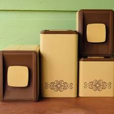 pink kitchen canister set 45 00 vintage canisters yellow vintage bread box cake