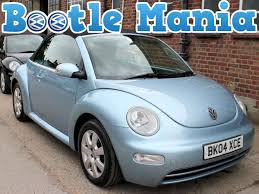 2004 volkswagen beetle 1 6 convertible se in blue 88k full service