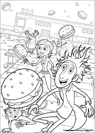 chance meatballs coloring picture