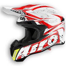motocross helmets for sale airoh terminator 2 1 splash motocross helmet white red airoh