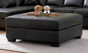 Oversized Storage Ottoman Furniture Faux Leather Tufted Oversized Storage Ottoman For
