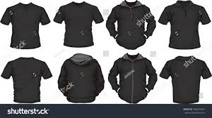 vector set mens shirts template black stock vector 106232753