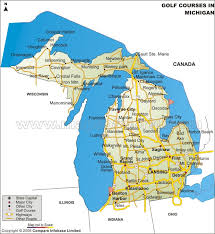 map of michigan buy michigan golf courses map
