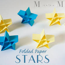 folded paper stars diy i want to try this for homemade