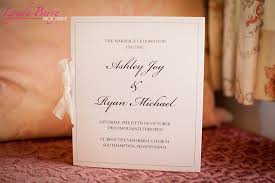 Custom Wedding Programs Real Wedding Ashley Ryan April Lynn Designs Custom