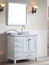 Single Vanity For Bathroom by Ace 37 Inch Single Sink Bathroom Vanity Set In White Finish