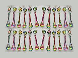 24 rainbow vitrail rainbow ab chandelier drops glass crystals