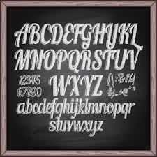 free chalkboard font alphabet alphabet with numbers and