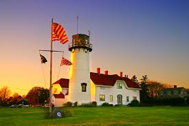 Massachusetts Flag Photo Usa Chatham Harbor Massachusetts Nature Lighthouses Flag Grass