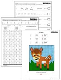 Worksheets Grade 3 3rd Grade Multiplication Mystery Pictures Coloring Worksheets