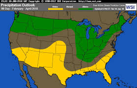 us weather map monday intellicast 90 day precipitation departure in united states