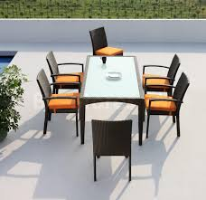 patio furniture with mid century wicker dining chairs and dining