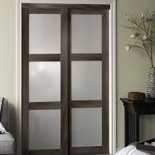 Panel Interior Door Erias Home Designs Baldarassario 3 Lite 2 Panel Mdf Sliding