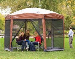 ez up gazebo coleman 12 x 10 hex instant screened shelter screen