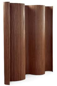 modern wavy bamboo room divider in a scrumptious chocolate color