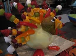 fruit salads for thanksgiving the fruit kabob turkey happy home fairy