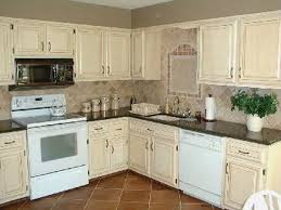 Kitchen Island Posts How To Paint Stained Kitchen Cabinets White Trends Also Building