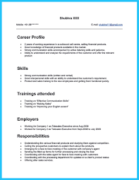 Example Of Finance Resume by Resume Sample Call Center Agent Resume For Your Job Application