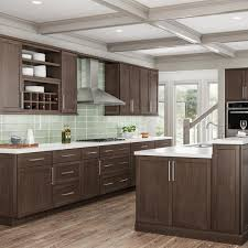 home depot kitchen cabinets and sink hton bay shaker partially assembled 36 x 34 5 x 24 in