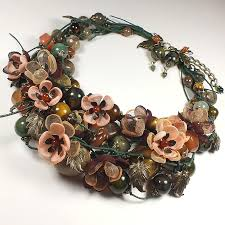 necklace flower handmade images Dreams forest river necklace earrings handmade flowers from jpg