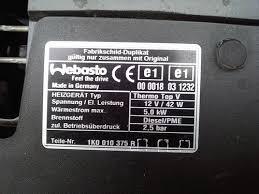 remote control for webasto aux heater or parking heater skoda