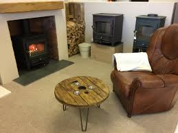 clearview stoves showroom in sussex with live burning woodburners