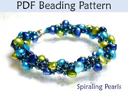 beads bracelet easy images Beading tutorial pattern bracelet necklace spiral stitch 37263