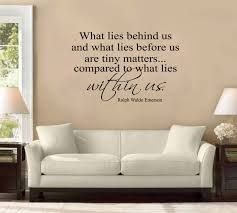 what lies behind us ralph waldo emerson large wall decal sticker quote home decoration decor other products amazon com