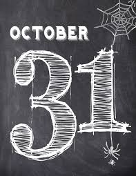 halloween october 31 wall art free printable paper trail design