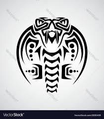 king cobra tribal royalty free vector image vectorstock