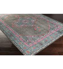 mirabelle rug gray and teal