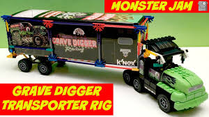 grave digger 30th anniversary monster truck toy monster jam k u0027nex grave digger transporter rig max d el toro loco
