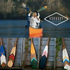 Decorative Canoe Paddles Hand Painted Cherry Wood Artisan Canoe Paddles From Norquay Co