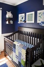 Navy Nursery Decor 10 Baby Boy Nursery Inspiration Navy Walls Blue And Cloud