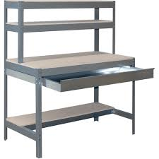 packing table with shelves packing table box 900 dark grey wood