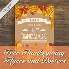 free thanksgiving flyers and posters master bundles