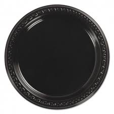 chinet plates chinet 9 black plastic plate 81409 500