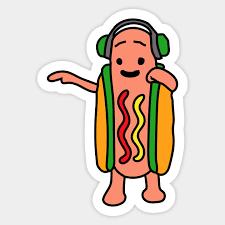 Meme Sticker - snapchat hot dog meme sticker teepublic