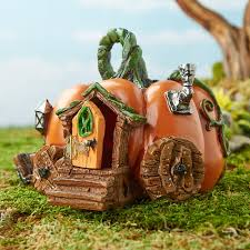 Pumpkin Carriage Miniature Pumpkin Carriage Fairy Garden House Fairy Garden