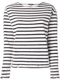 r13 striped sweatshirt white black women clothing sweatshirts r13