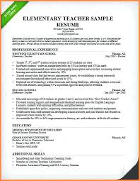 resume for teachers exles elementary resume exles the best resumes