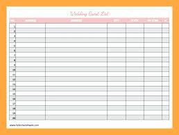 wedding gift list wedding list templates wedding guest list gust list template