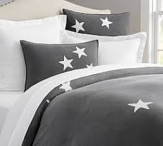 Stars Duvet Cover Washed Cotton With Lace Duvet Cover U0026 Sham Pottery Barn