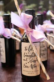 bridal shower favor how to make your own diy wine bottle bridal shower favors